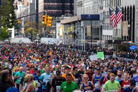 昨年は11月3日に行われたニューヨークシティー・マラソン=米ニューヨーク(AP=共同)