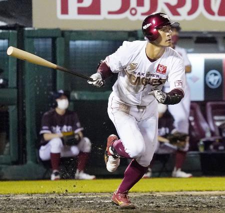 5回楽天無死、茂木が右中間に本塁打を放つ=楽天生命パーク