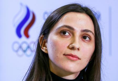 陸上女子走り高跳びで世界選手権3連覇中のロシアのマリア・ラシツケネ=2月(タス=共同)