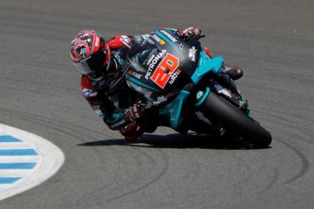 オートバイの世界選手権シリーズ第3戦、アンダルシアGP、ヤマハのファビオ・クアルタラロ=26日、ヘレスデラフロンテラ(ロイター=共同)