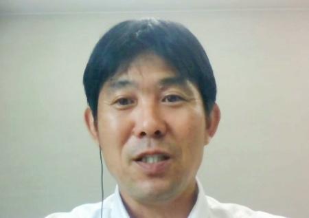 オンラインで取材に応じるサッカー日本代表と男子の東京五輪代表を兼務する森保一監督=28日