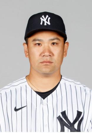 ヤンキースの田中将大(ゲッティ=共同)