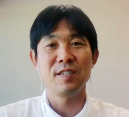 オンラインで取材に応じたサッカー日本代表の森保監督=11日