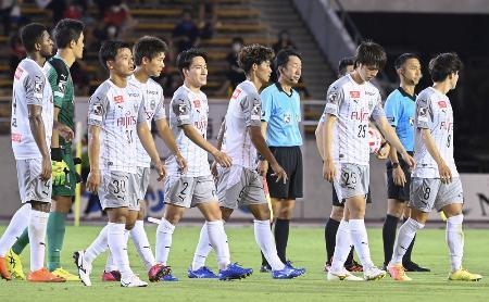 YBCルヴァン・カップ1次リーグで、名古屋と引き分けた川崎イレブン=12日、パロマ瑞穂