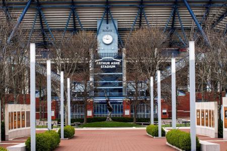 全米オープンとウエスタン・アンド・サザン・オープンの会場となるビリー・ジーン・キング・ナショナル・テニスセンター=ニューヨーク(ロイター=共同)