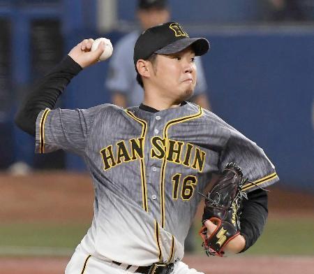 7回1失点で4勝目を挙げた阪神・西勇輝=神宮
