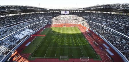 2020年1月1日、サッカー天皇杯決勝が行われた国立競技場