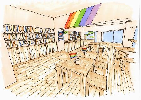 「プライドハウス東京レガシー」の内部のイメージ