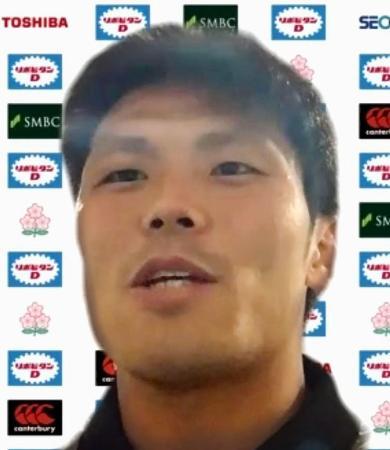 オンラインで取材に応じるラグビー7人制男子日本代表候補の坂井克行=8日