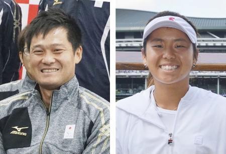 国枝慎吾(左)と上地結衣