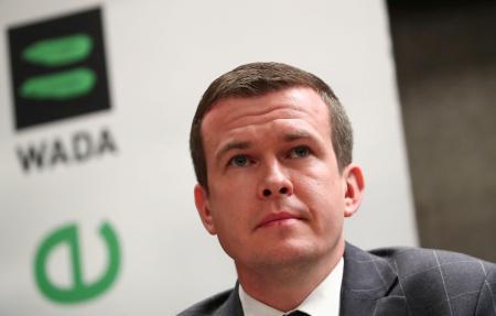世界反ドーピング機関(WADA)のバンカ委員長=2019年12月、ローザンヌ(ロイター=共同)