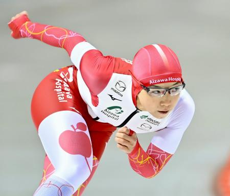 女子500メートルで2位となった小平奈緒=明治北海道十勝オーバル(代表撮影)