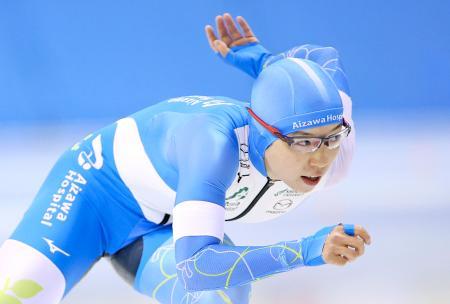 女子1000メートル 優勝した小平奈緒=明治北海道十勝オーバル(代表撮影)