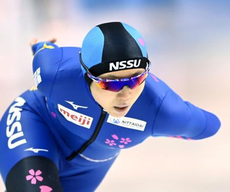 女子1500メートル 優勝した高木美帆=明治北海道十勝オーバル(代表撮影)
