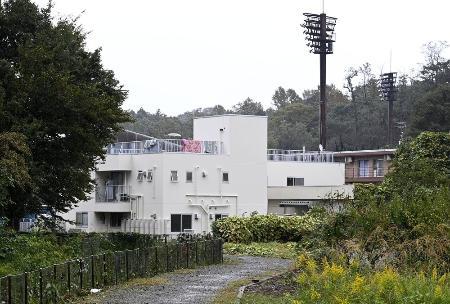 神奈川県平塚市内にある東海大の硬式野球部の寮=10月