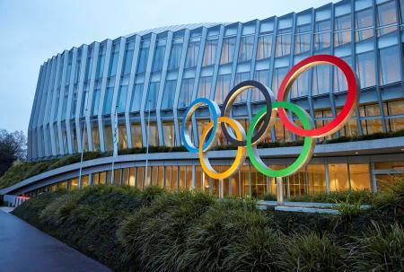 スイスのローザンヌにある国際オリンピック委員会(IOC)本部(ロイター=共同)