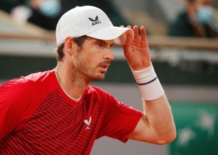 昨年9月の全仏オープンに出場したアンディ・マリー=ローランギャロス(ロイター=共同)