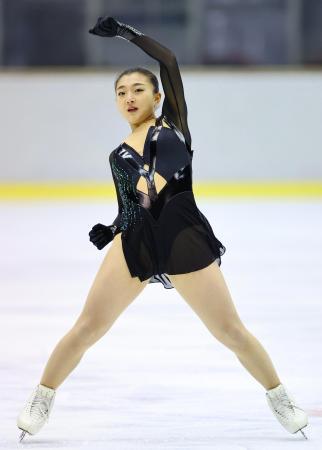フィギュア成年女子 優勝した坂本花織のフリー=名古屋市ガイシプラザ(代表撮影)