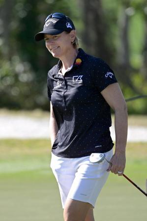 国際ゴルフ連盟会長のアニカ・ソレンスタム=1月、米フロリダ州(AP=共同)