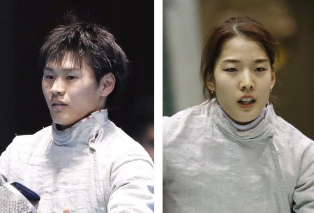 フェンシングの東京五輪代表に決まった吉田健人、江村美咲