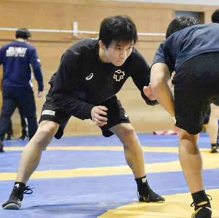 東京五輪アジア予選に向け、調整するレスリングの樋口黎=横浜市の日体大健志台キャンパス