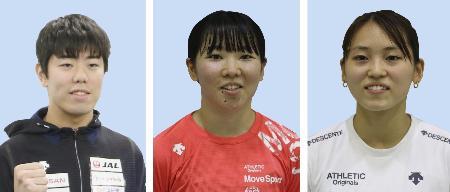 フェンシングの東京五輪代表に決まった敷根崇裕、上野優佳、東晟良