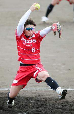 シオノギ製薬戦に先発し、5回無失点のビックカメラ高崎・藤田=ベイコム野球場