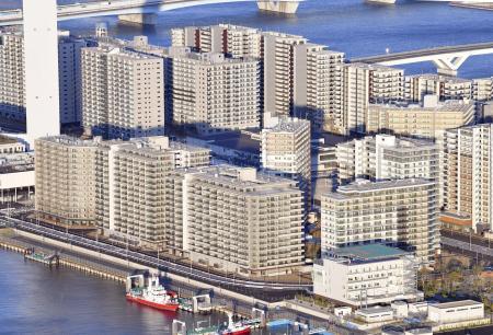 東京五輪・パラリンピックの選手村=東京・晴海