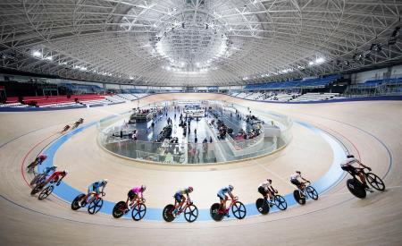 伊豆ベロドロームで開催された東京五輪自転車トラック種目のテスト大会