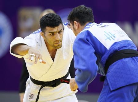 2019年12月、モンゴル国籍取得後、中国での柔道マスターズ大会で初の国際大会出場を果たした元イランのモラエイ(共同)