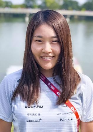 カヌーのスプリント女子カナディアンペア500メートルで東京五輪代表に決まった久保田愛夏(日本カヌー連盟提供)