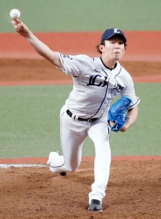 8回途中2失点で2勝目を挙げた西武・今井=メットライフドーム