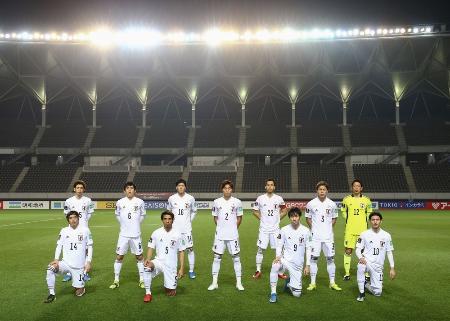 サッカーW杯アジア2次予選モンゴル戦の日本代表=3月30日、フクダ電子アリーナ(☆(○の中に小文字のC)JFA)