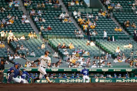 観客を入れて開催されたプロ野球の阪神―中日戦=13日、甲子園球場