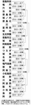 秋季徳島県大会 17日開幕 30校激突