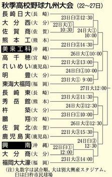 秋季九州大会 22日開幕