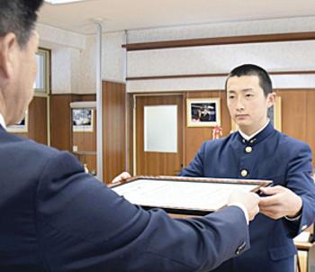 小高工を高野連が表彰 「21世紀枠」候補福島県推薦校で