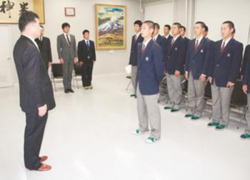 センバツ21世紀枠県推薦校 飯田高に表彰状伝達