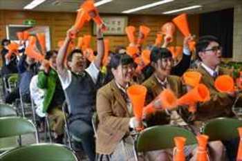 作新学院 留守部隊60人、初戦に熱い声援