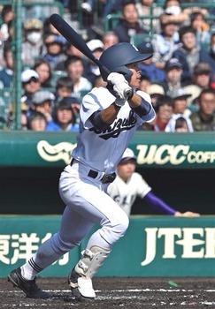 藤田(静岡)、2長打で勢い センバツ大会1回戦