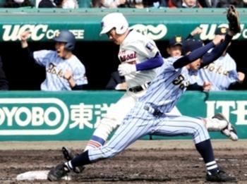9回1死、痛恨の失策 神戸国際大付