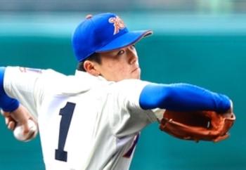 エース黒田、9回先頭打者四球悔やむ 神戸国際大付