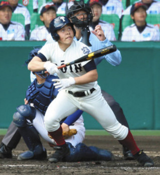 大阪対決 桐蔭V、代打・西島「この1打席」