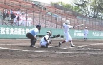 浜松西高が6-1で勝利 北高と野球定期戦