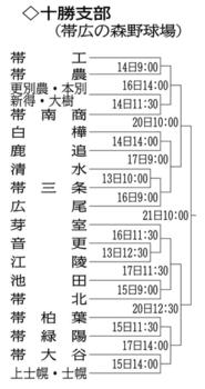 北海道大会 十勝支部予選 全道かけ18チーム