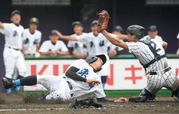峰山、初戦逃げ切る 高校野球京都大会