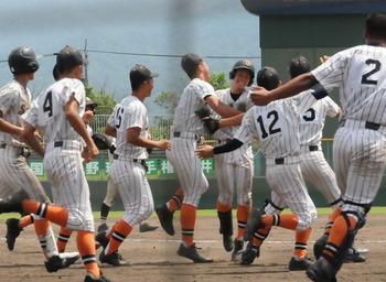 坂井、前年覇者北陸にサヨナラ勝ち 夏の福井大会