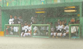 雷雨のため準決勝が26日に順延 夏の島根大会