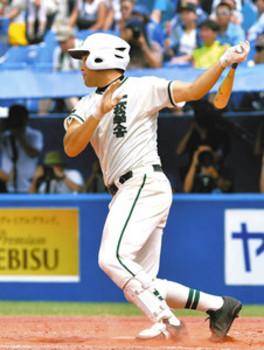 2点二塁打「高校生活一番の当たり」 二松学舎大付・永井選手