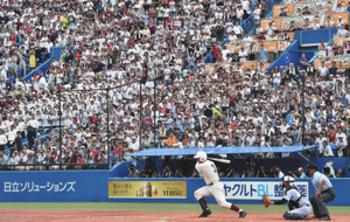 清宮フィーバー最多3万人 夏の甲子園、西東京大会決勝